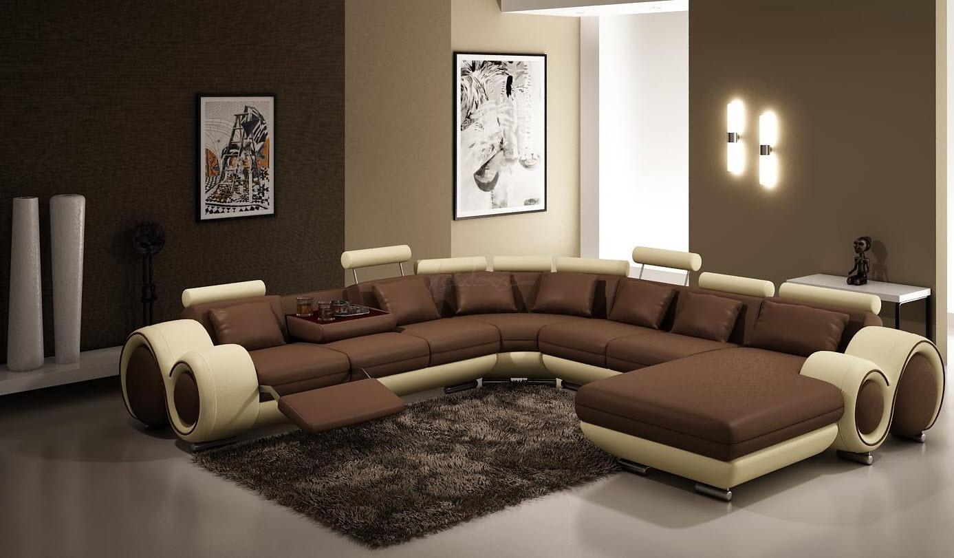 Многофункциональный П-образный диван