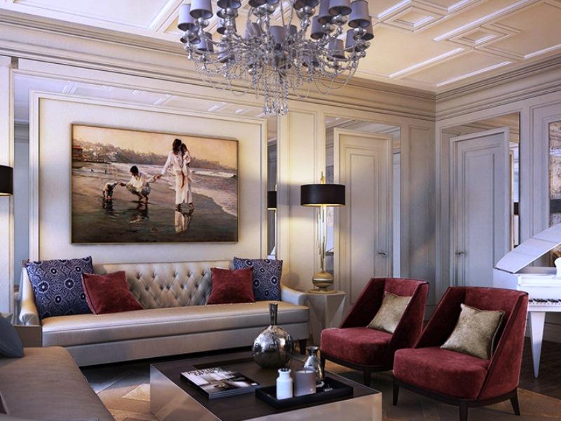 Модный интерьер гостиной