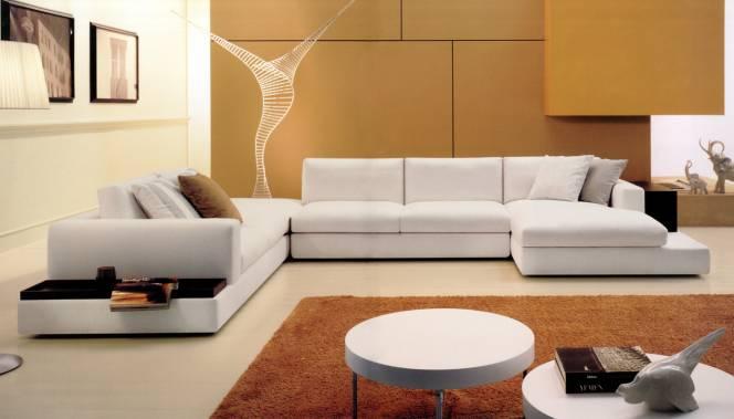 Мягкая мебель для гостинной в современном стиле