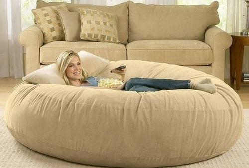 Надувная большая подушка для отдыха