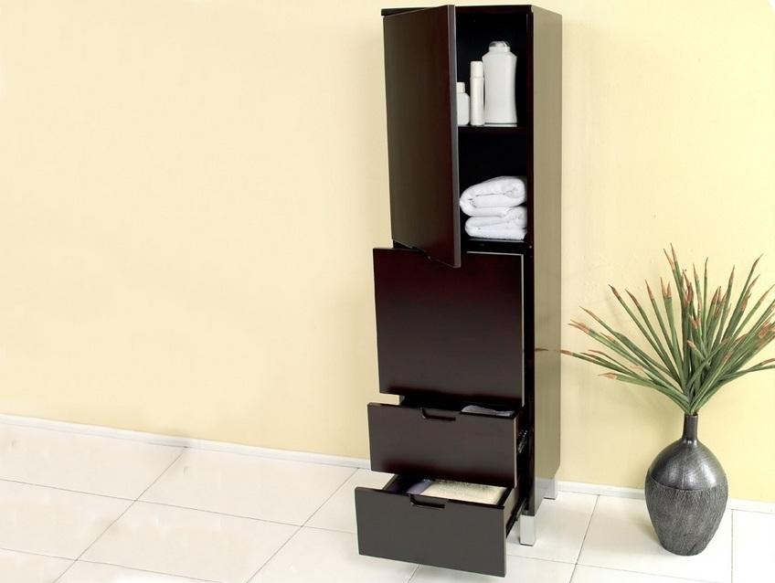Напольный шкаф-пенал для ванной