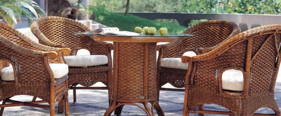 Натуральная плетеная мебель из ротанга