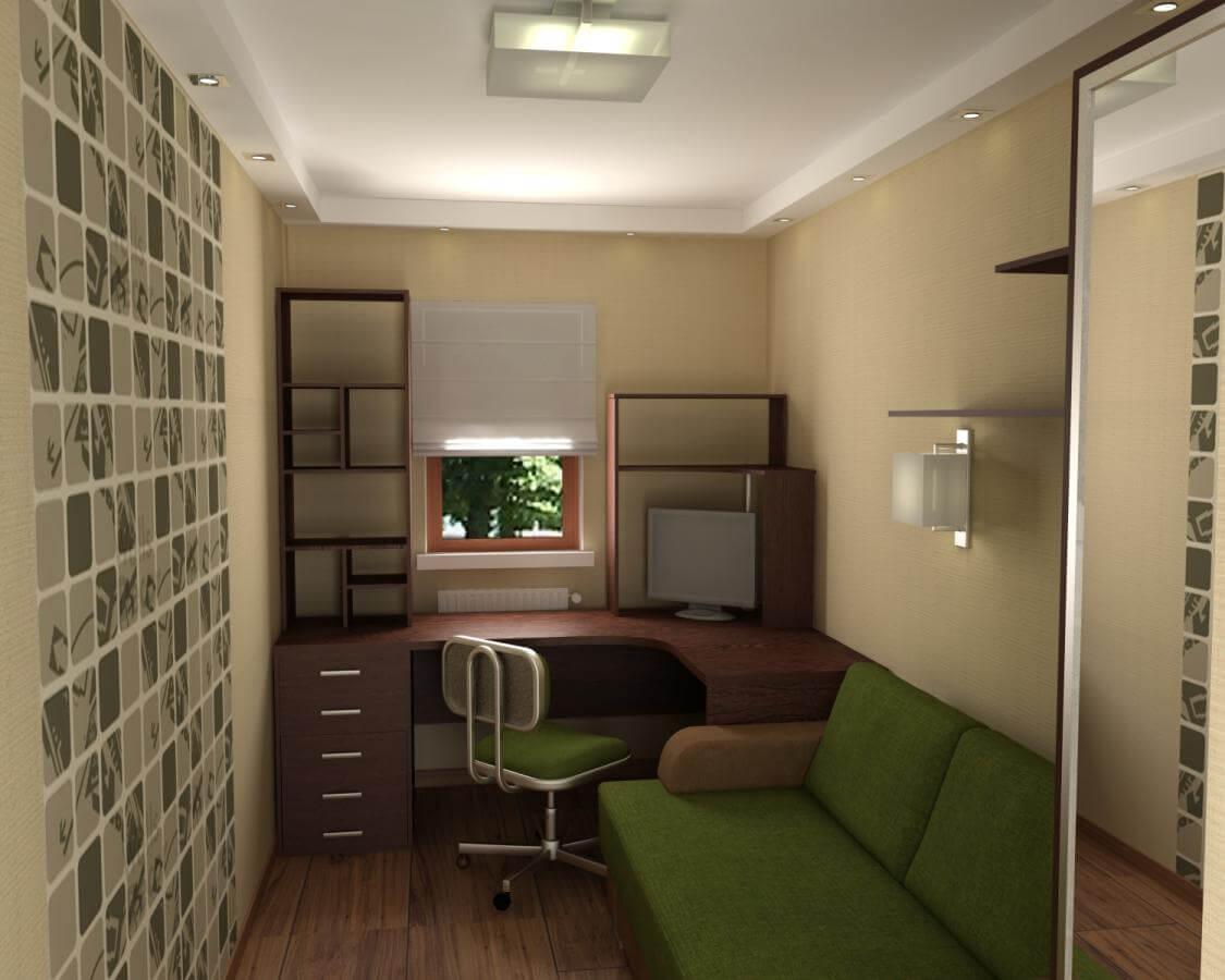 Небольшая комната прямоугольной формы