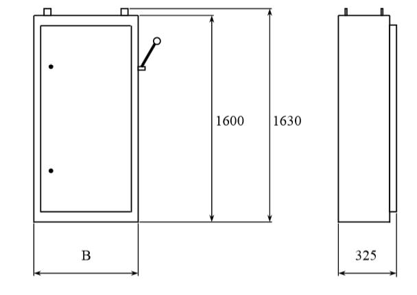 Общий вид и габариты шкафов распределительных