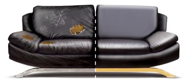 Обтяжка дивана новой тканью