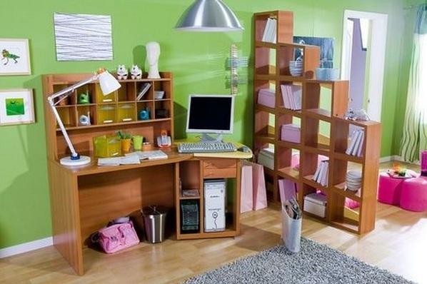 Обустройство место для уроков в доме