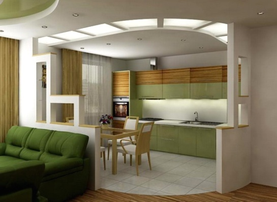 Однокомнатная квартира с жилым помещением в 18 квадратных метров