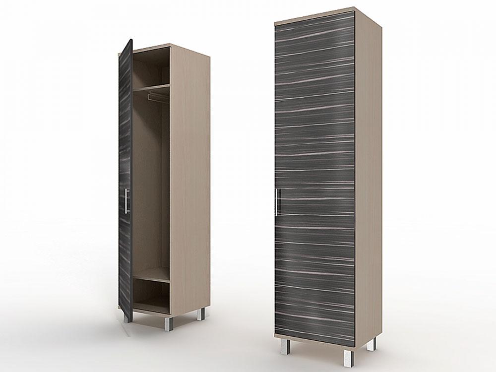 Одностворчатый шкаф со штангой