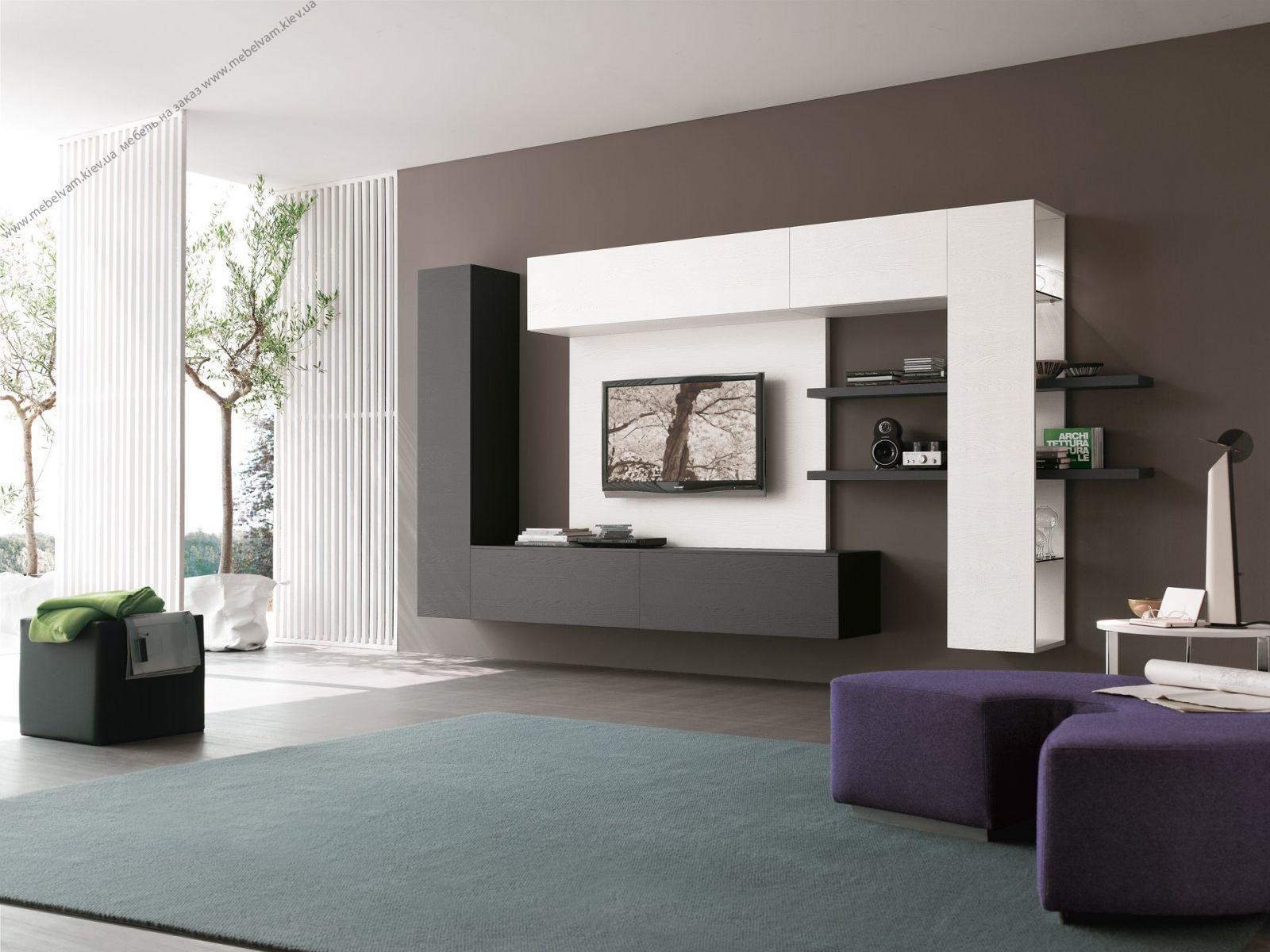 Оригинальная мебель черно-белого цвета