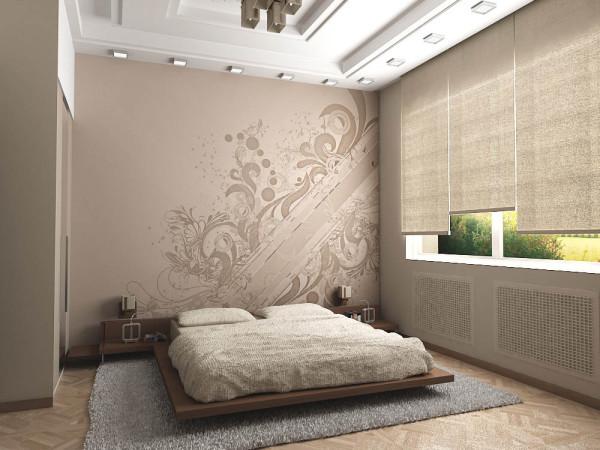 Оригинальные орнаменты в спальне
