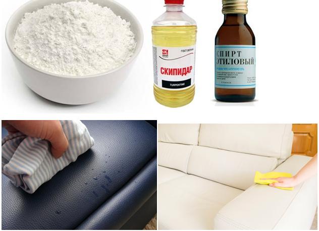 Особенности чистки дивана на основе кожи