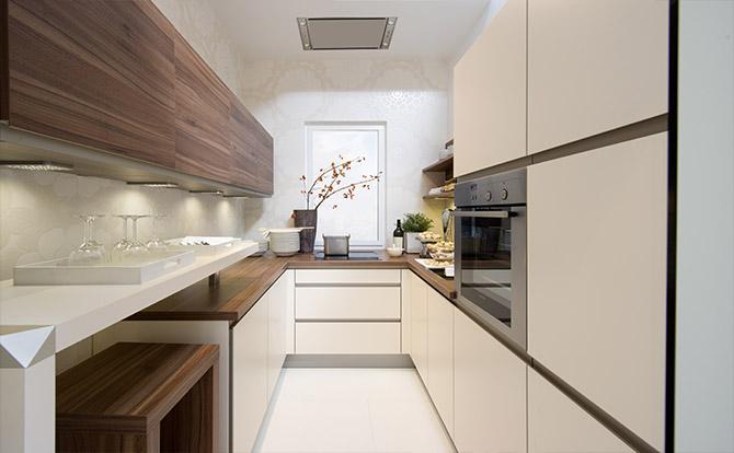 П-образный кухонный гарнитур