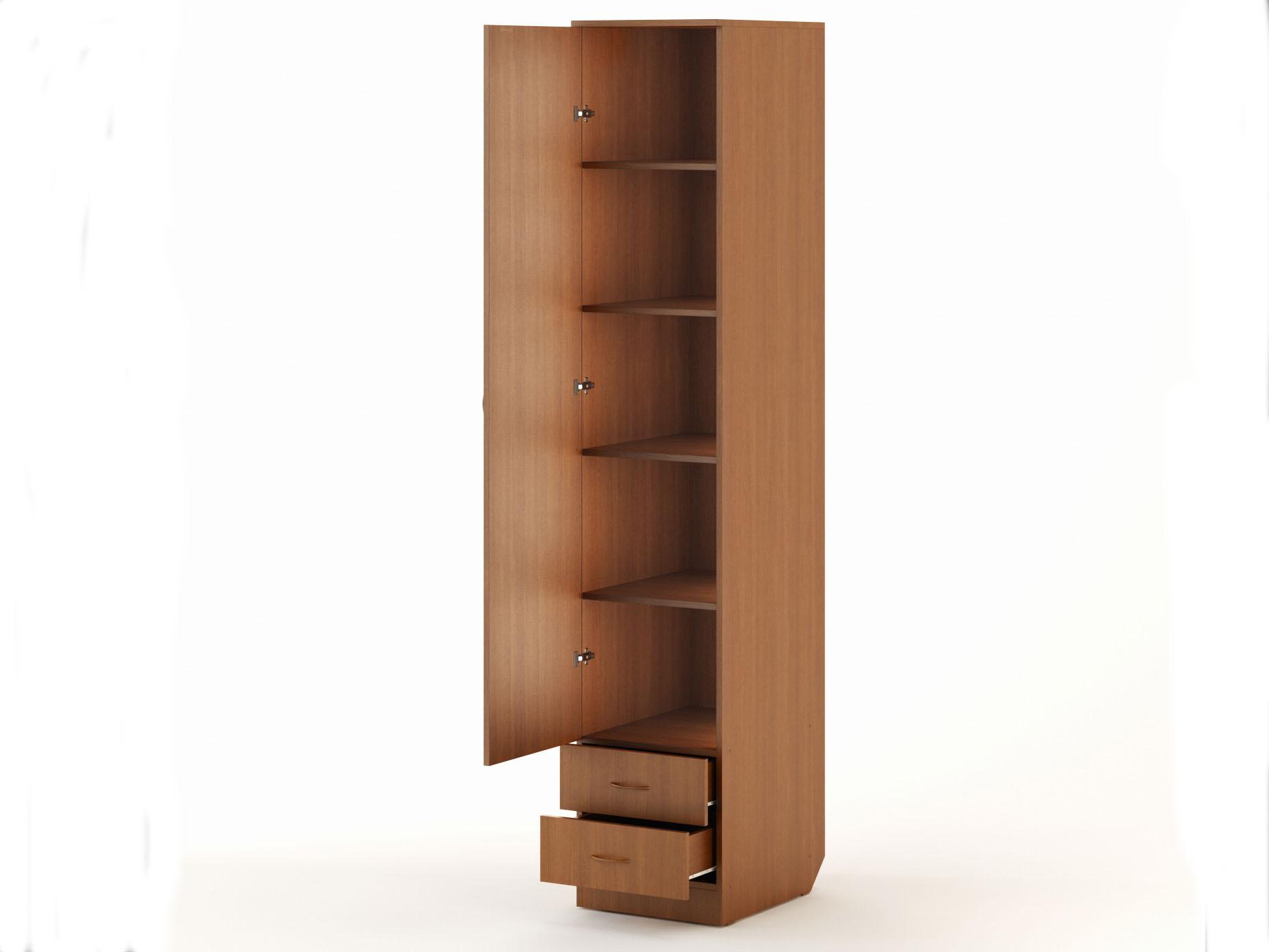 Шкаф пенал с полками, особенности, советы по выбору и размещ.