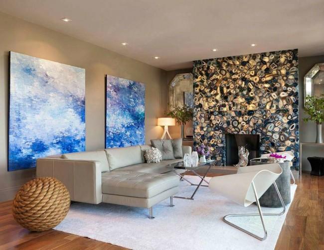 Плавные формы мебели в интерьере