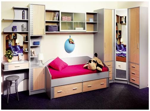 Подростковая мебель для узкой комнаты