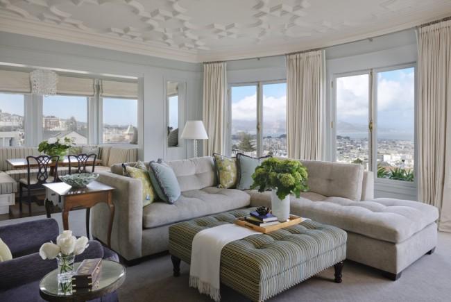 Практичная мягкая мебель для частного дома