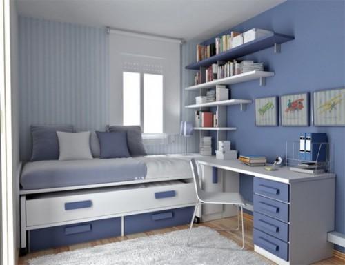 Практичная высокая кровать с ящиками