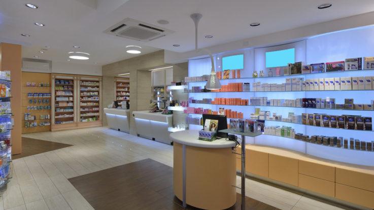 Практичное аптечное торговое оборудование