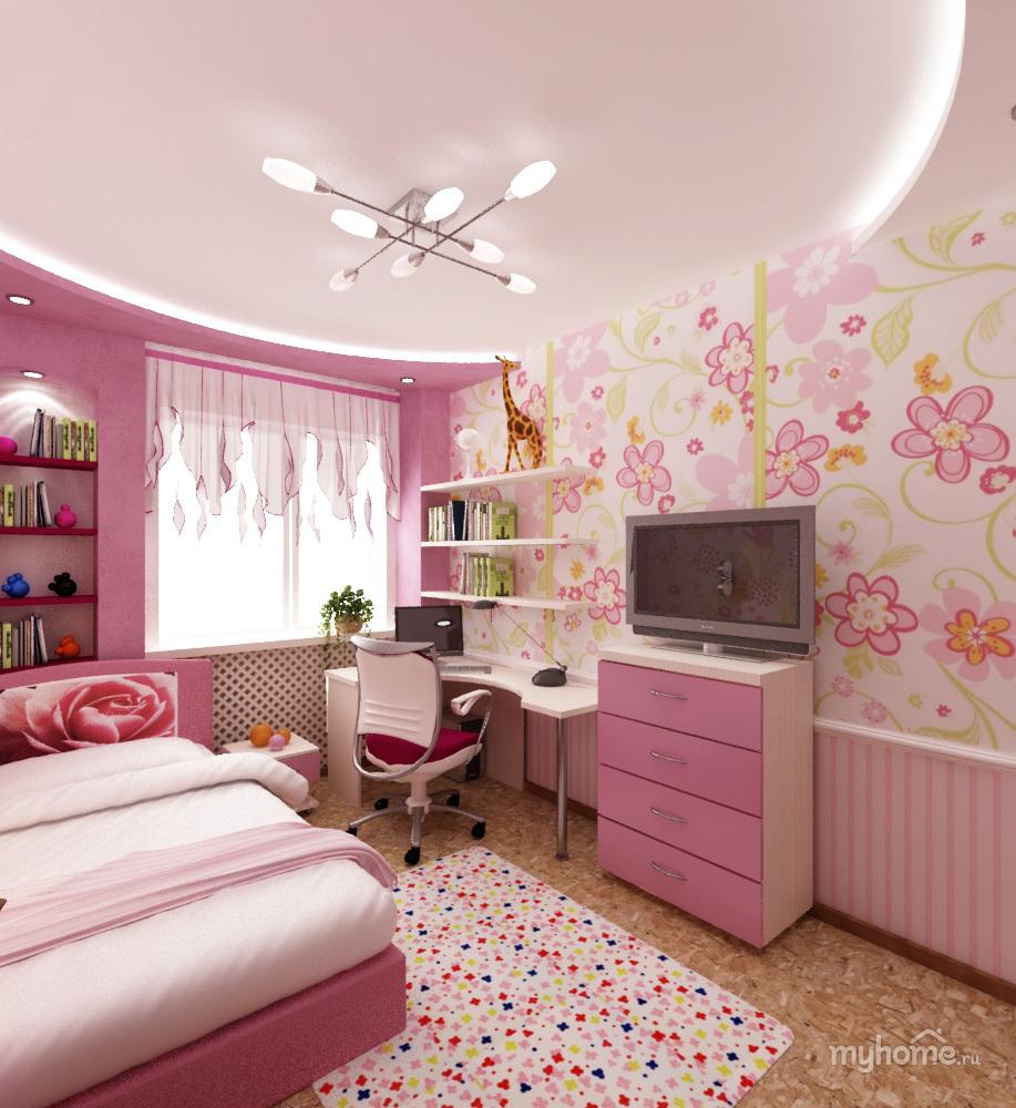 Применение розового цвета в детской комнате