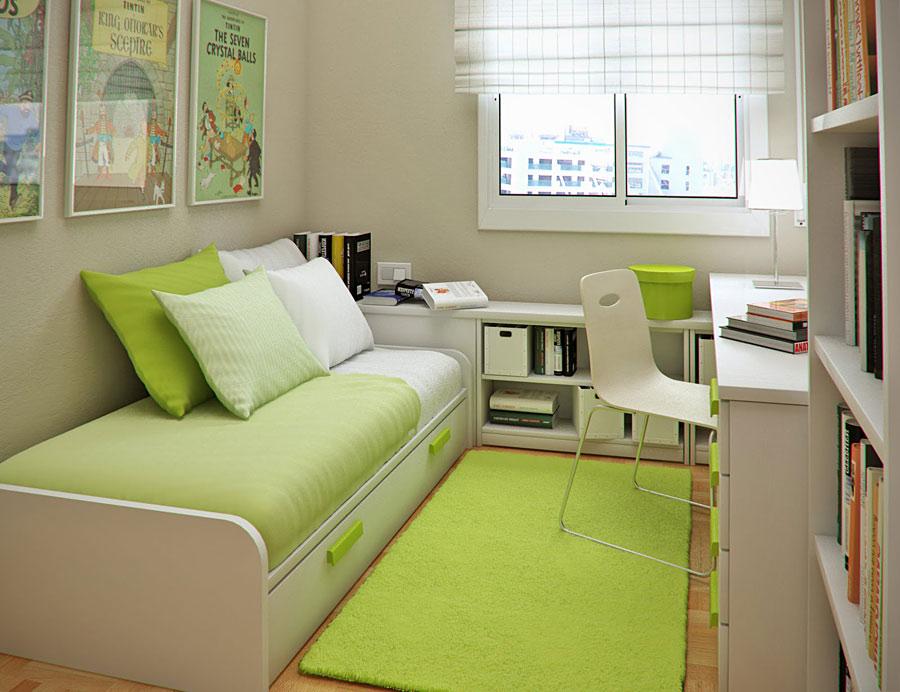 Применение зеленого дивана