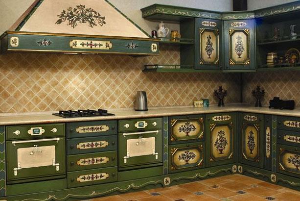 Пример эксклюзивной мебели для кухни