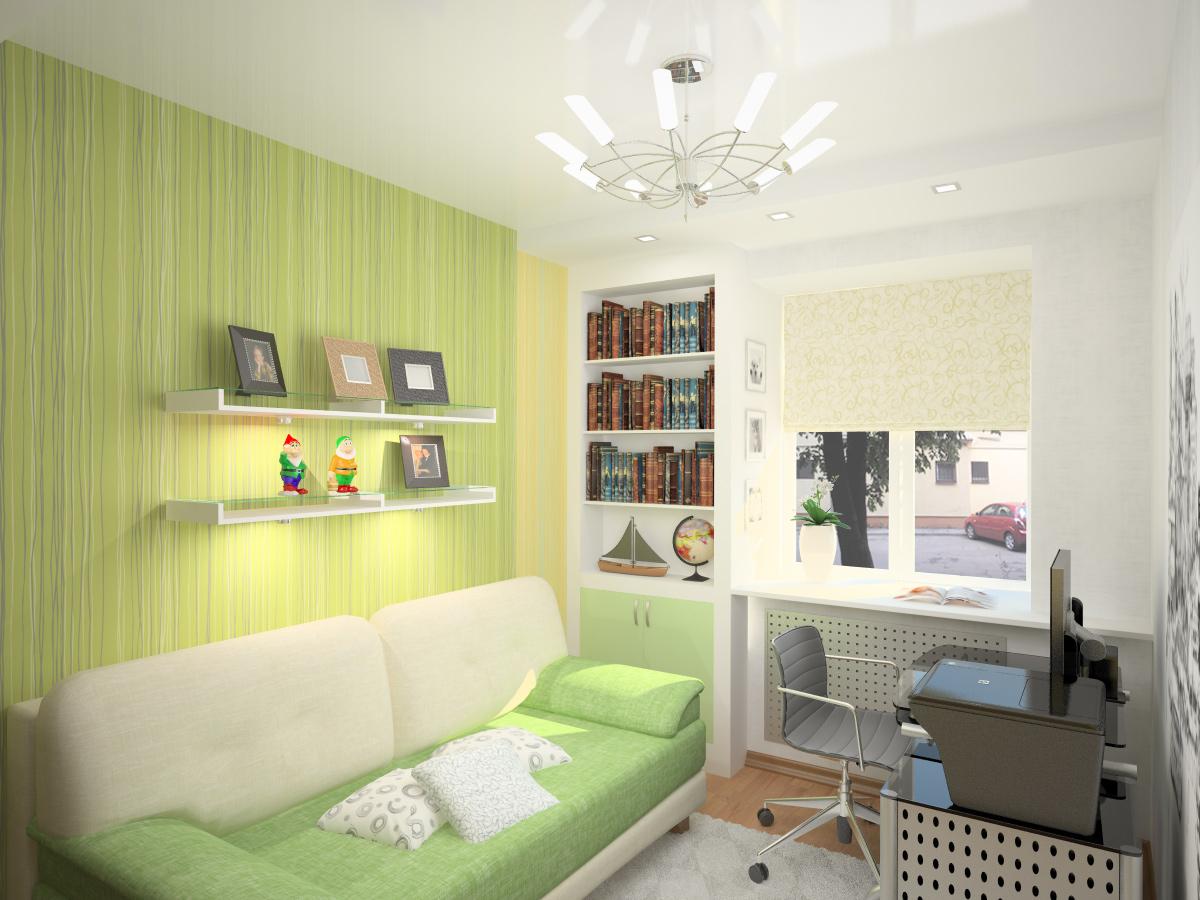 Пример расстановки мебели в небольшой комнате