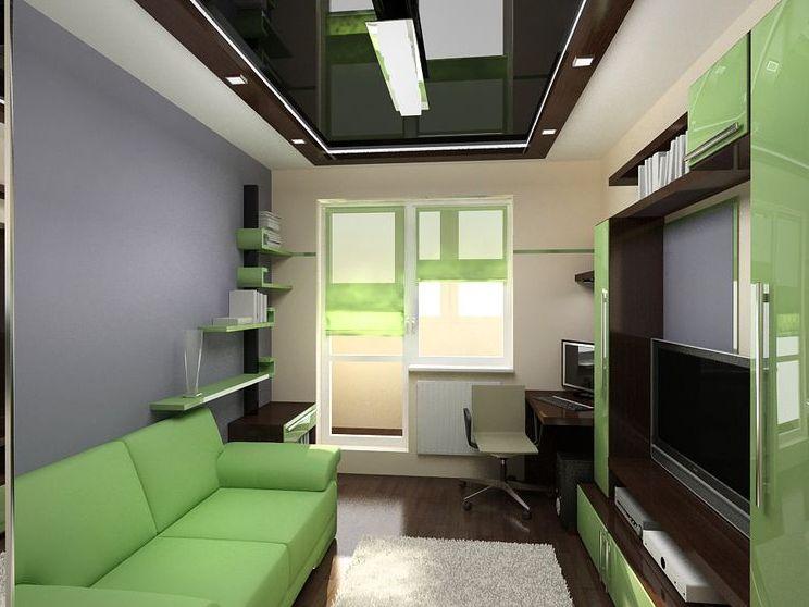 Пример расстановки мебели в просторной комнате
