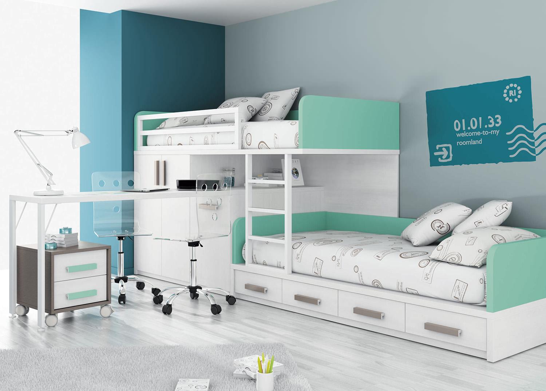 Пример размещения кровати в детской комнате