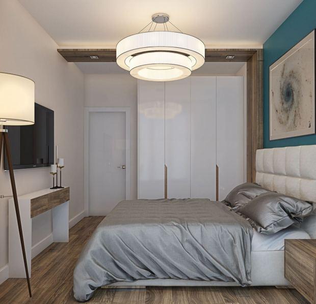 Приятные оттенки небольшой спальни