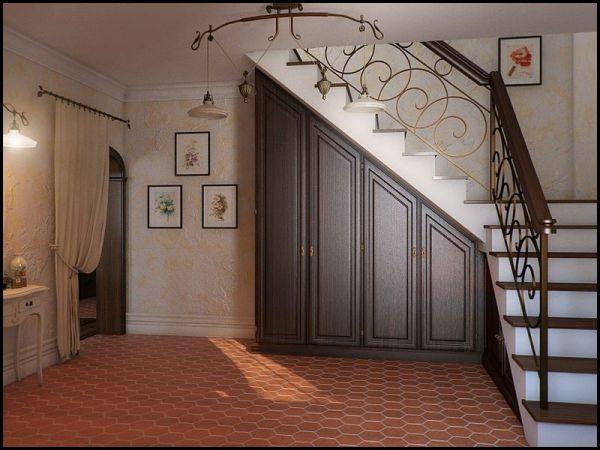 Проект шкафа под лестницу