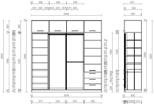 Проектирование и детали шкафа-купе