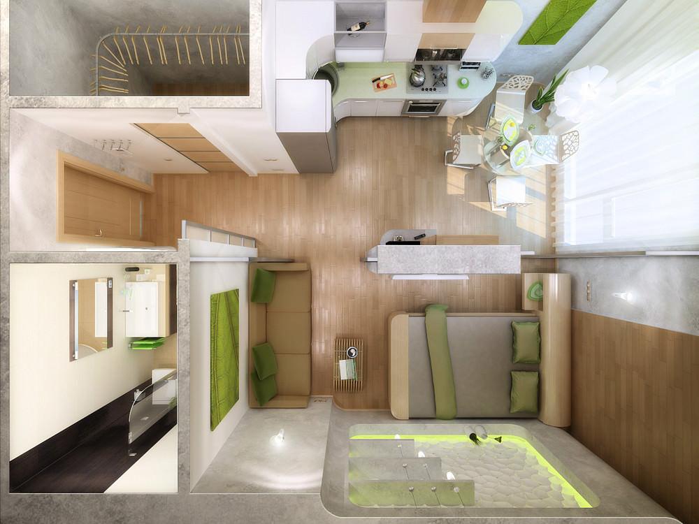 Проектирование небольшой квартиры