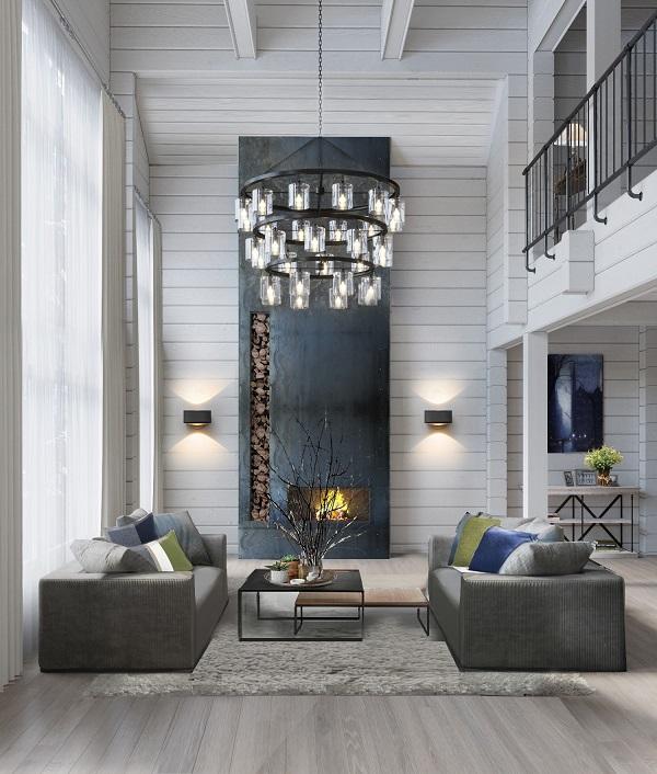 Просторная гостиная, выдержанная в современной стилистике