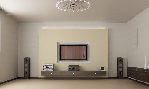 Прямоугольная комната с приятным дизайном