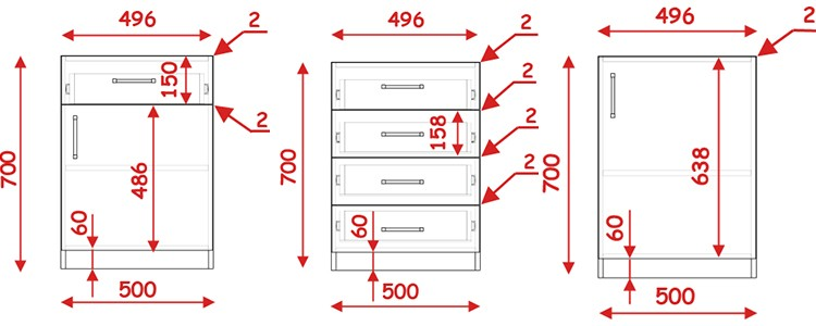Расчет мебельных фасадов