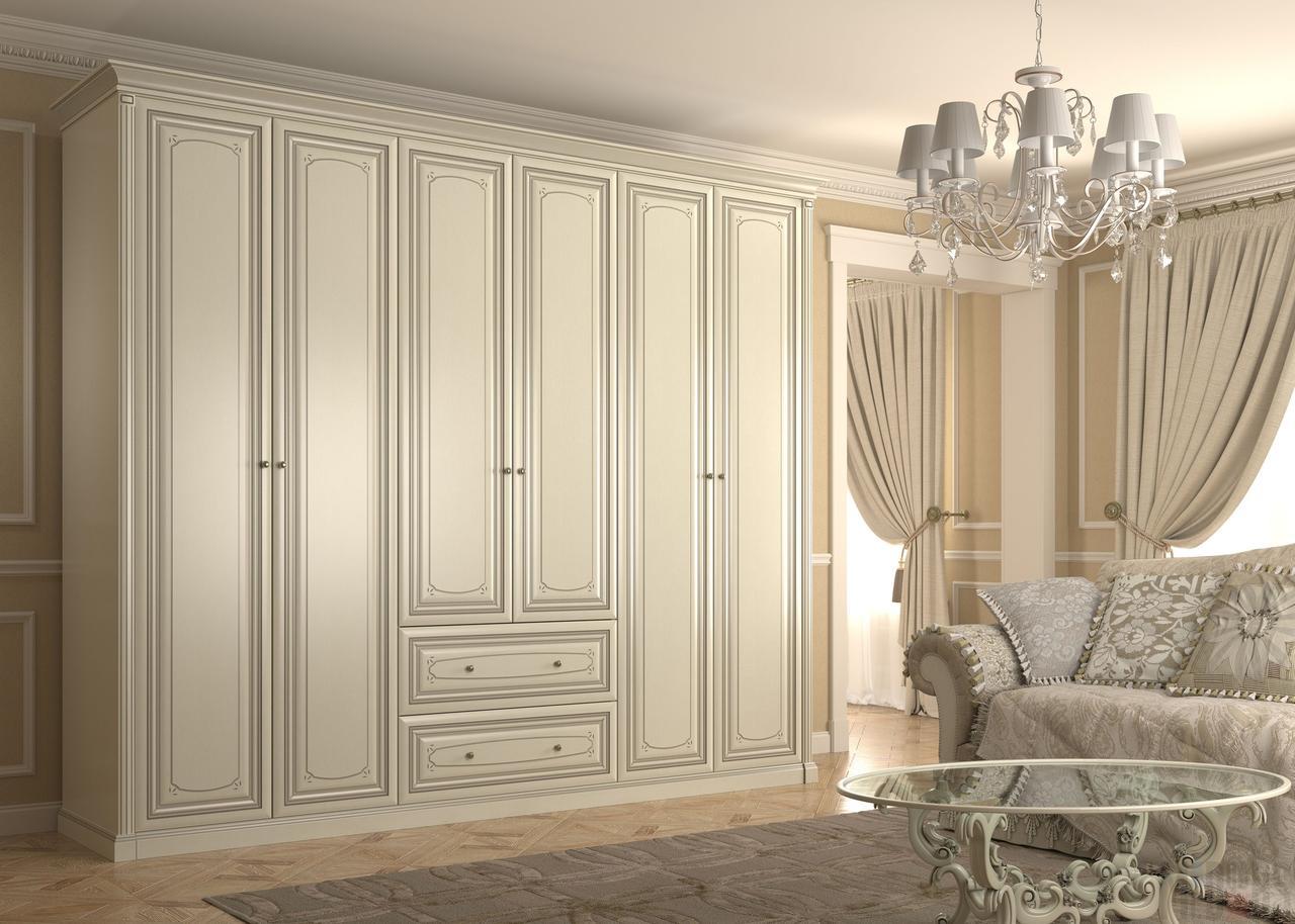 Распашные шкафы в стиле классика