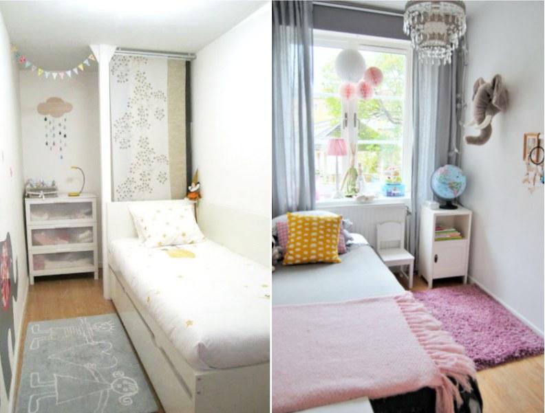 Расположение мебели в небольшой детской комнате