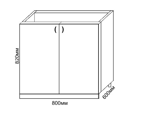 Размеры прямого шкафа