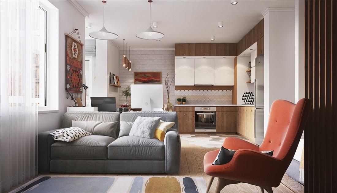 Размещение мебели в студии