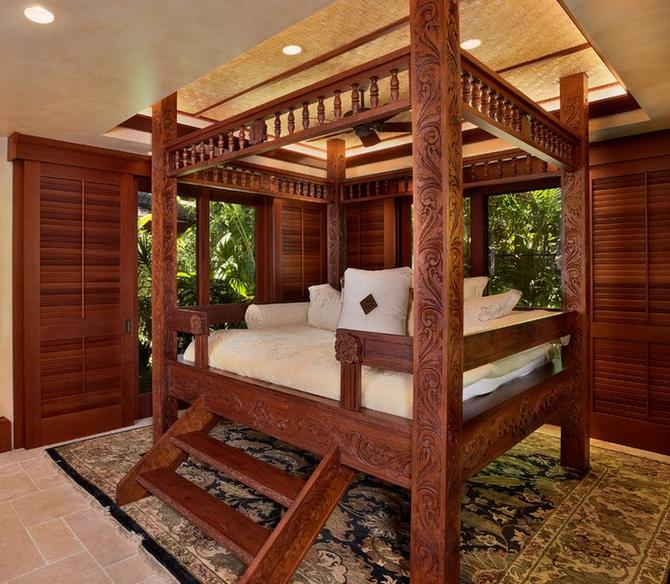 Резная эксклюзивная кровать