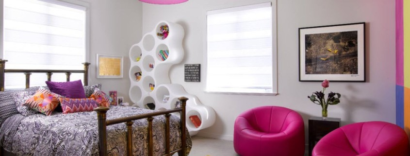 Розовые кресла для отдыха