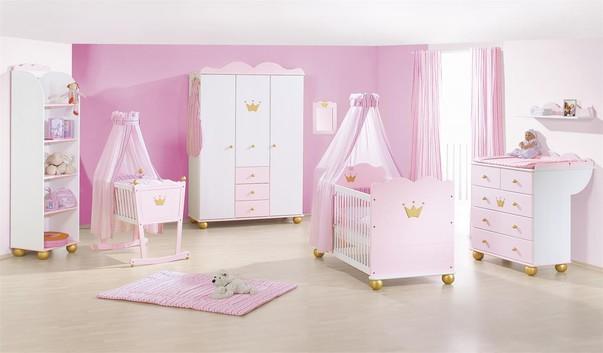 Розовые оттенки мебели для ребенка