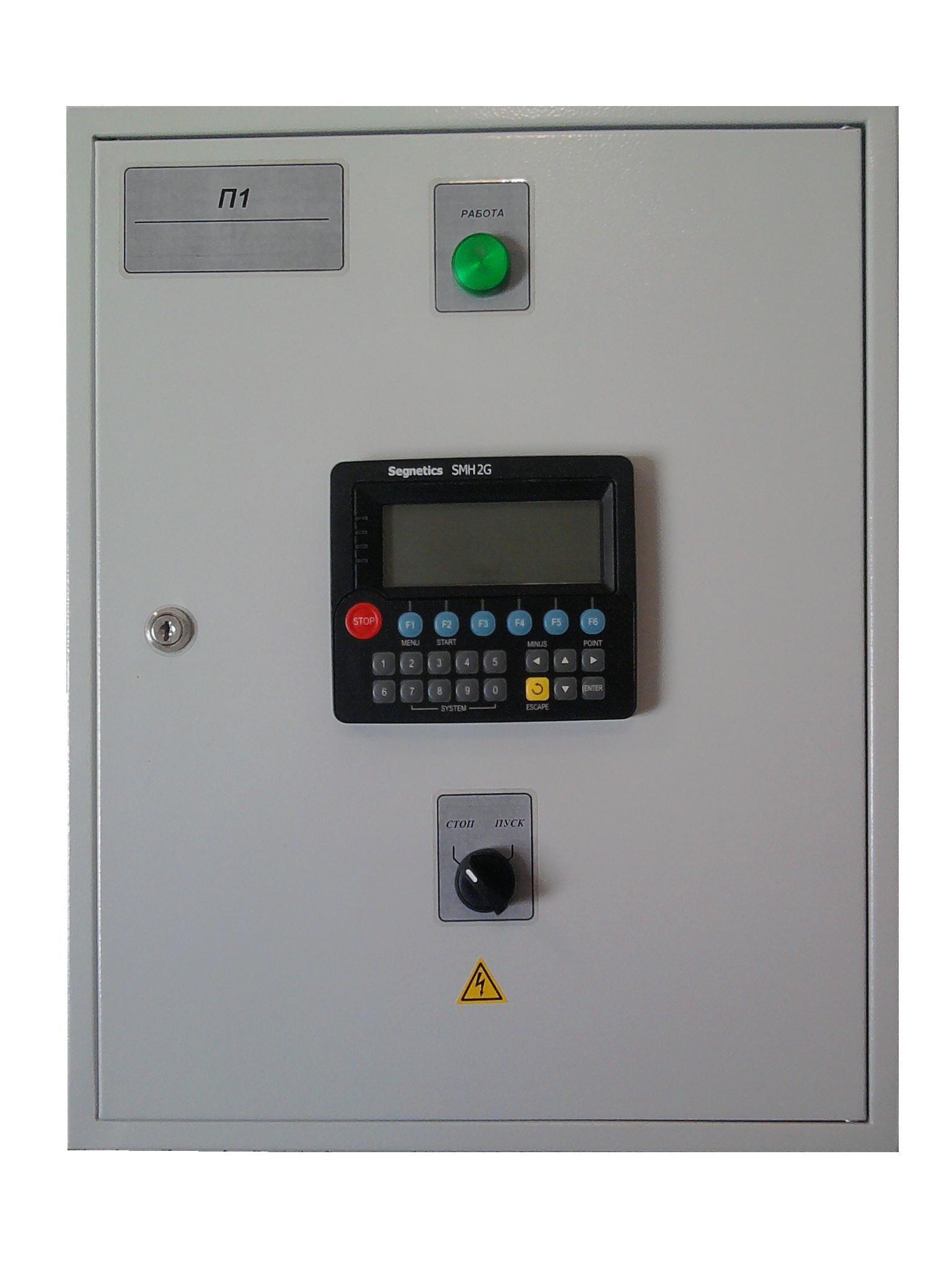 Щит управления автоматики приточно-вытяжной вентиляции с рециркуляцией и водяным калорифером