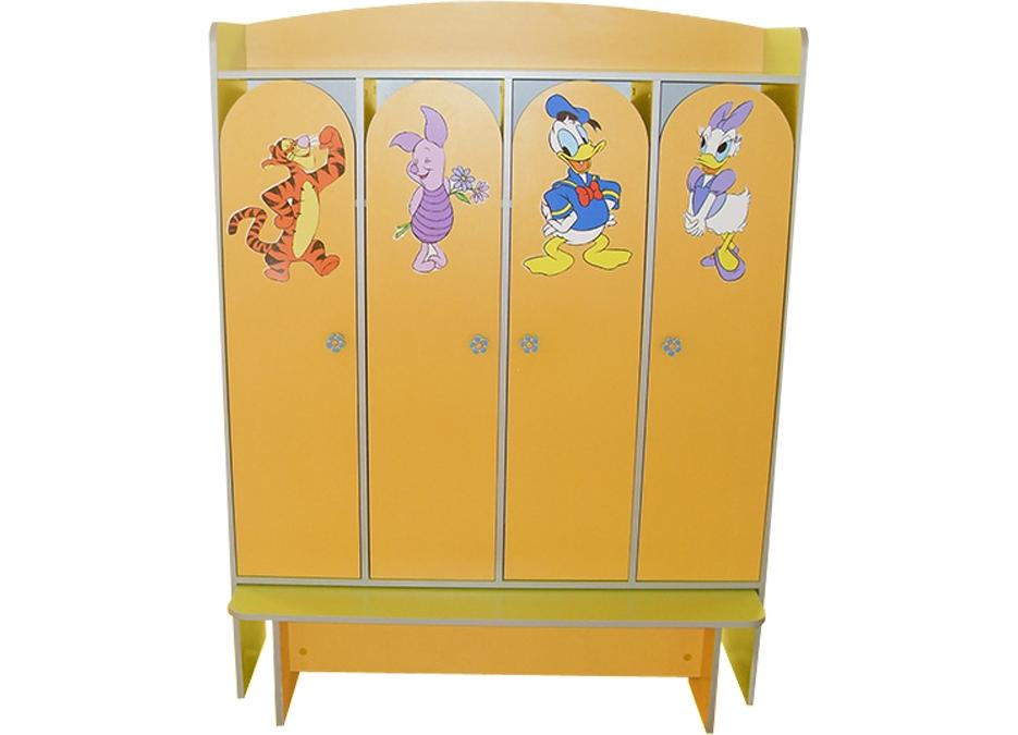 Шкаф 4-дверный для раздевалки