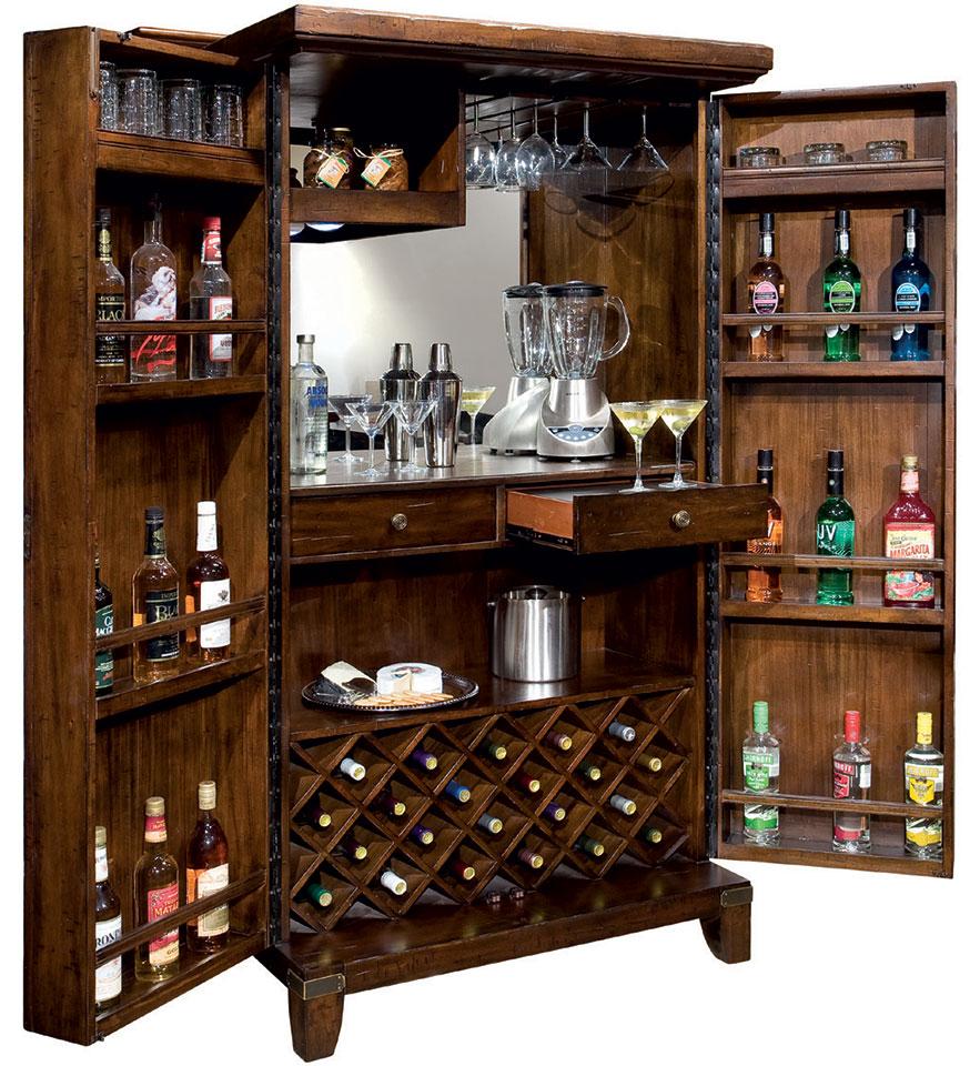 Шкаф бар из натурального массива дерева