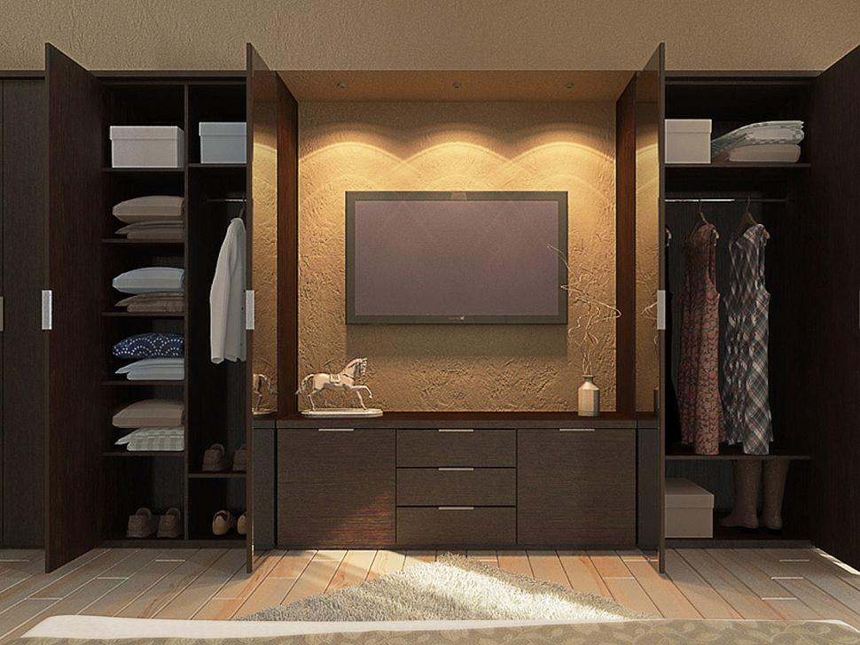Шкаф купе стенка в спальню под телевизор
