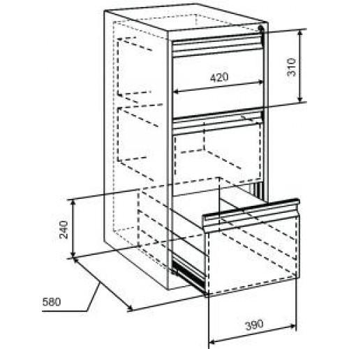 Шкаф на три ящика