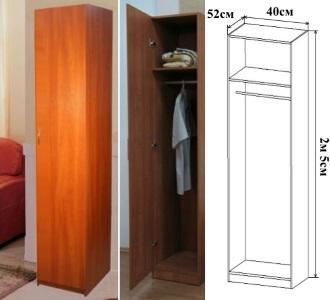 Шкаф однодверный платяной