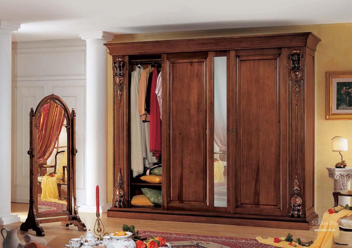 Шкаф платяной с 4-я раздвижными створками