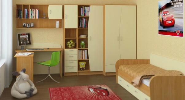 Шкаф прямоугольной формы для спальни